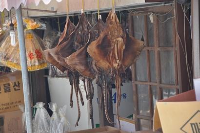 Getrockneter Fisch in Donghae, Süd Korea