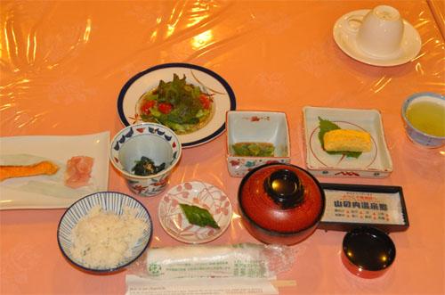 Frühstück im Ryokan