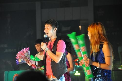 Sänger beim Qingdao Beer Festival