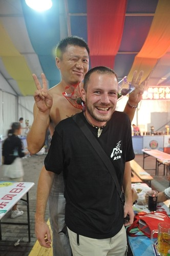 Spaß beim Qingdao International Beer Festival
