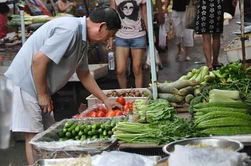 Gemüse am Chinesischen Markt in Qingdao