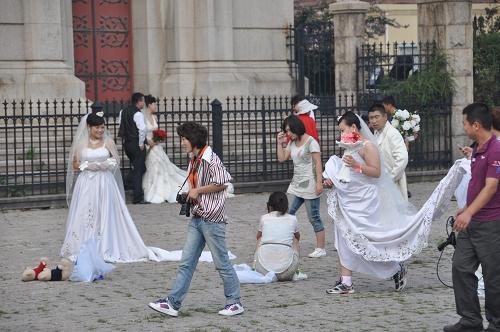 Hochzeitspaare in Qingdao
