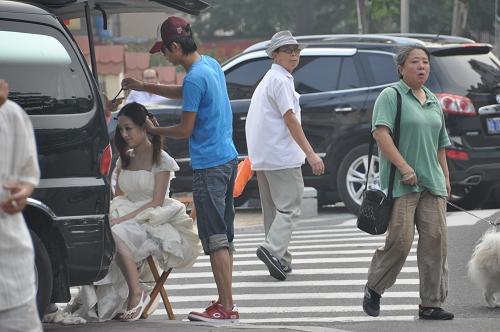 Schminken für die Hochzeit in China