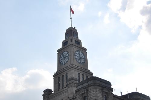 Bild: Uhr am Zollhaus am Bund in Shanghai