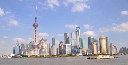 Bild: Blick vom Bund auf Pudong in Shanghai