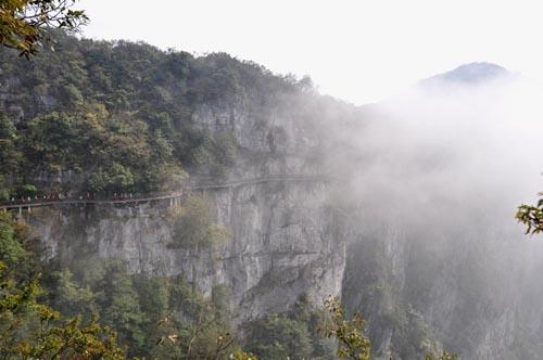 Klippenweg im Tianmen Nationalpark in Zhangjiajie