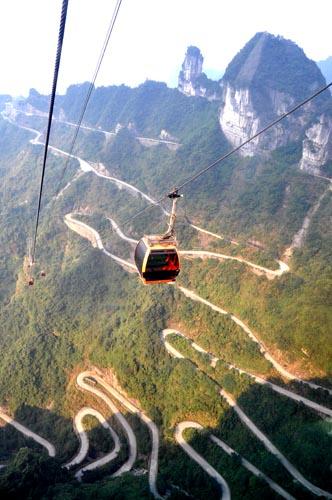 Seilbahn auf den Tianmen Shan in Zhangjiajie