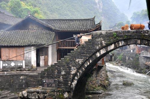 Bild: Jielong-Brücke in Dehang