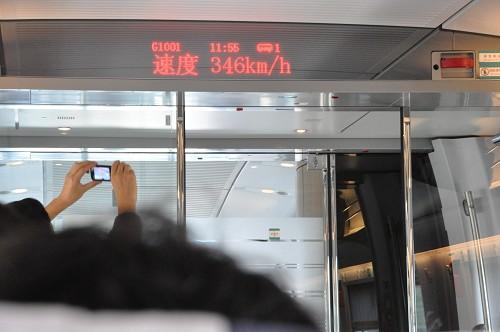 Chinesischer Hochgeschwindigkeitszug - Geschwindigkeitsanziege 346 km/h