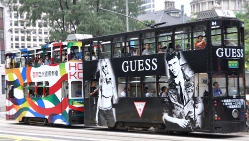 Bild: Doppeldecker-Straßenbahn in Hongkong