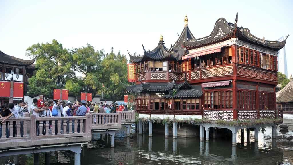 Eine der Sehenswürdigkeiten in Shanghai: Das Teehaus