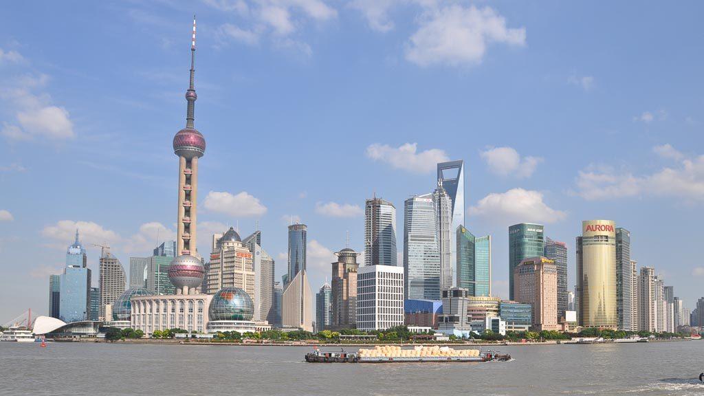 Skyline von Shanghai Pudong 2010