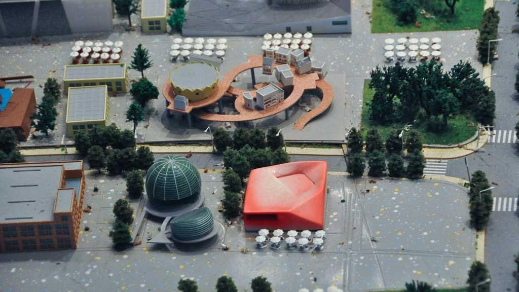 Modell des Österreich-Pavillons von der Expo 2010 im Stadtplanungsmuseum in Shanghai