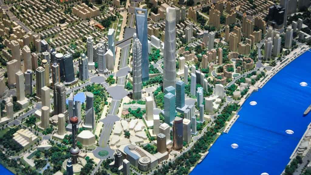 Shanghai Pudong im Stadtplanungsmuseum