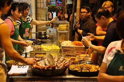 Bild: Straßenküche in Hongkong