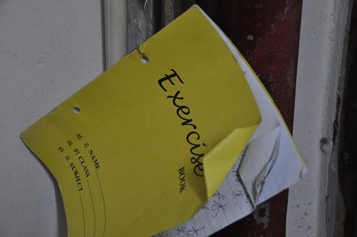 Bild: Exercise-Book im Wohnblock - Hongkong
