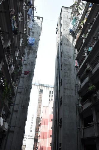 Bild: Innenhof Wohnblock Argyle Street in Hongkong