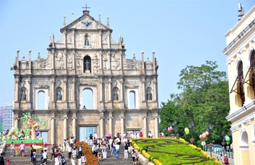 Fassade der Kirche Sao Paolo in Macau
