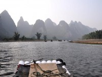 Bild: Fluss Li Jang vom Bambusboot in Xingping - China