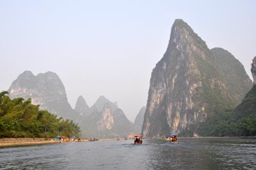 Bild: Fluss Li Jang bei Xingping in China
