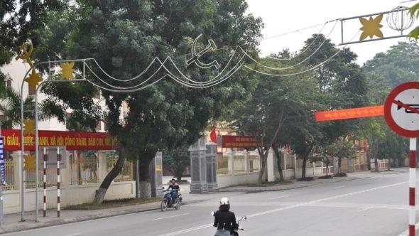 Kommunistische Weihnachtsbeleuchtung