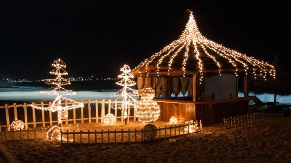 Weihnachten in Vietnam am Strand