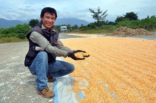Bild: Mais wird auf der ehemaligen Airforce-Base in Nha Trang getrocknet