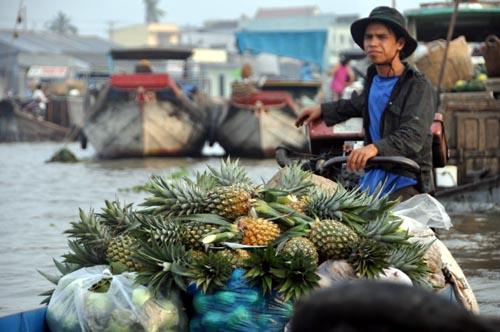 Bild: Ananas-Boot am schwimmenden Markt in Cai Rang - Vietnam