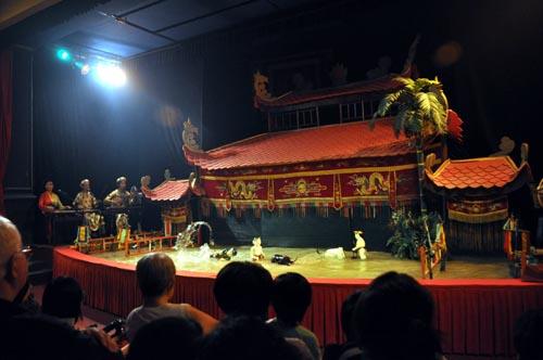 Bild: Wasserpuppen-Theater in Ho-Chi-Minh-Stadt
