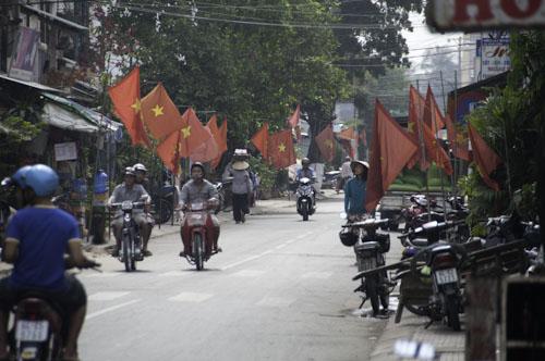 Bild: Straßenleben in Vinh Long