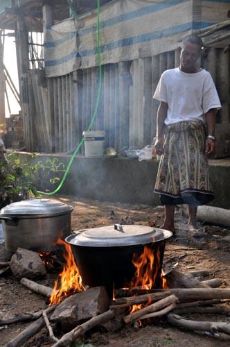 Bild: Cham-Minderheit nahe Chau Doc im Mekong-Delta