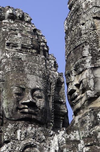 Bild: Lokeshvara am Bayon in Angkor Thom - Nähe Angkor Wat