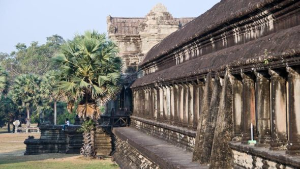 Angkor Wat in Kambodscha bei Morgensonne