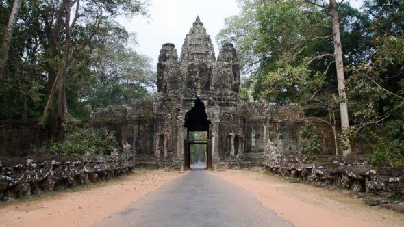 Angkor Wat: Tor von Angkor Thom