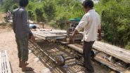 Bambuszug in Kambodscha