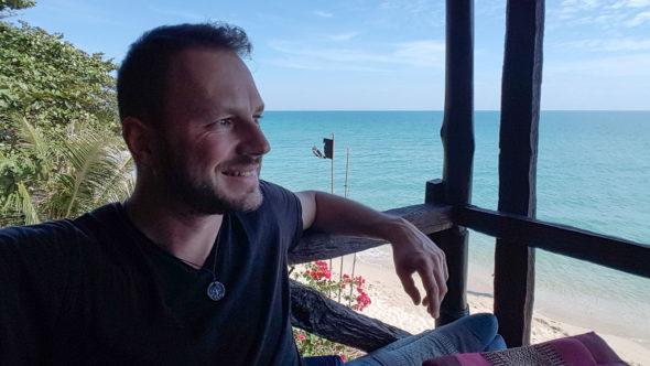 Gerhard Liebenberger am White Sand Beach auf Koh Chang
