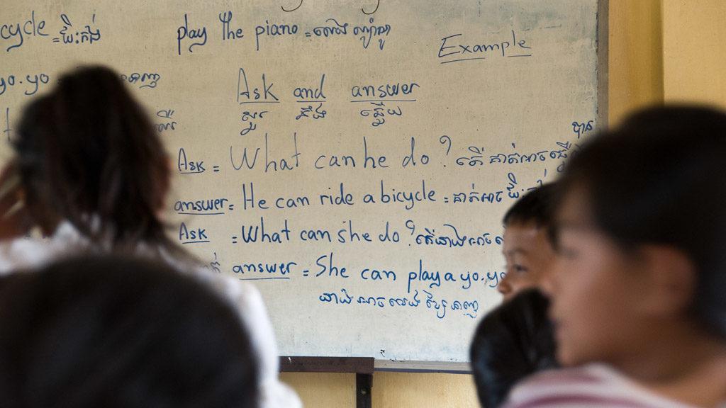 Khmer ist die Sprache in Kambodscha