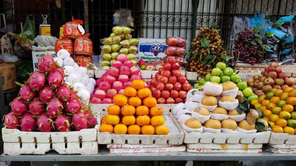 Obst Zentralmarkt Battambang