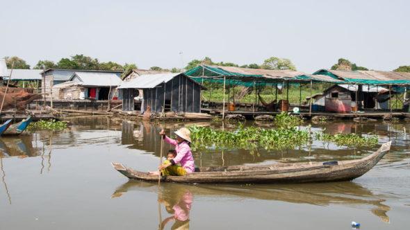 Schwimmendes Dorf am Tonle Sap