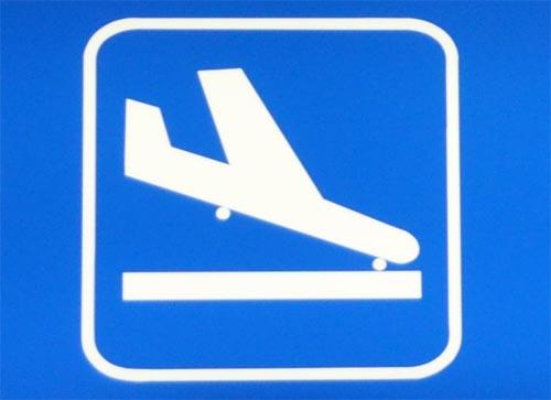 Bild: Flugzeug beim Ankommen