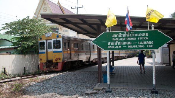 Banlaem-Meaklong-Railway in Ban Leam