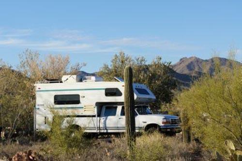 """Bild: Mit """"Alfie"""" dem Wohnmobil unterwegs durch Amerika - Bild: Hudsonfamily.ch"""
