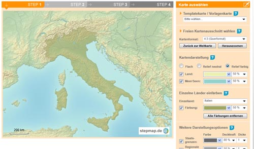 Bild: Stepmap: Eigene Landkarte erstellen