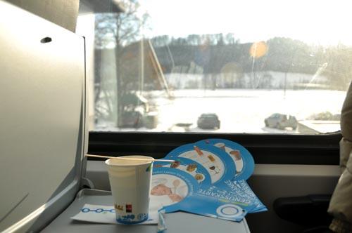 Bild: Kaffee in der Neuen Westbahn