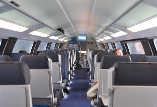 Bild: Oberer Stock im Waggon der Neuen Westbahn