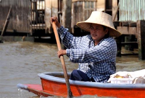Bild: Boot in den Khlongs in Bangkok
