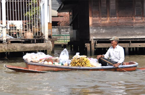 Bild: Khlongs in Bangkok