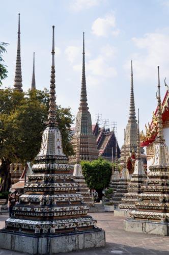 Bild: Chedi im Wat Pho in Bangkok