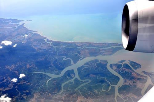 Bild: Ausschnitt vom Ganges-Brahmaputra-Delta in Bangladesch