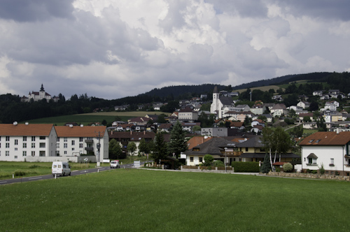 Bild: Kefermarkt mit Schloss und Kirche